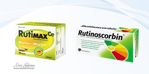 Suplementy z rutyną i witaminą C - Rutinoscorbin i RutiMAX