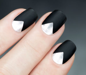 Manicure: Reverse French Chevron