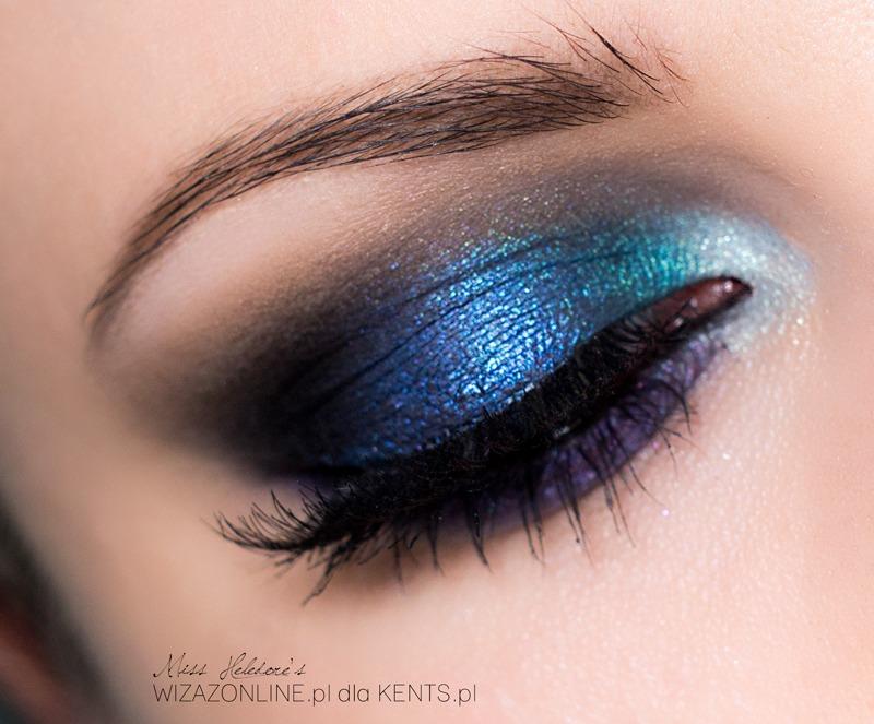 Granatowe smoky eye – kosmetyki Kent's